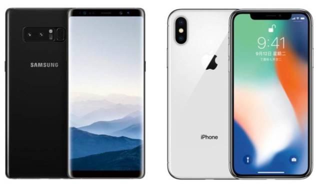 iPhoneXとギャラクシーS8の比較