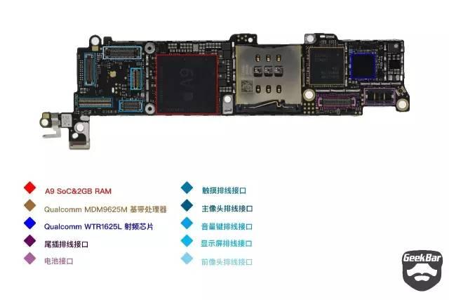 iPhoneSEのマザーボード