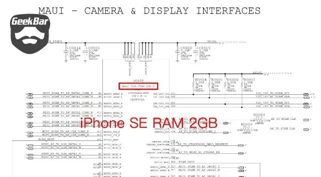 iPhoneSE基盤の構造