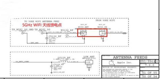 5GHzWIFIアンテナ給電端子構造