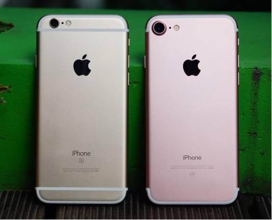 iPhone6SとiPhone7の比較