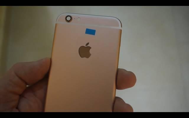 ピンク色のiPhone6sバックカバー