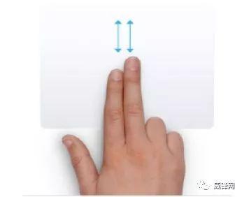 2本の指でスライド
