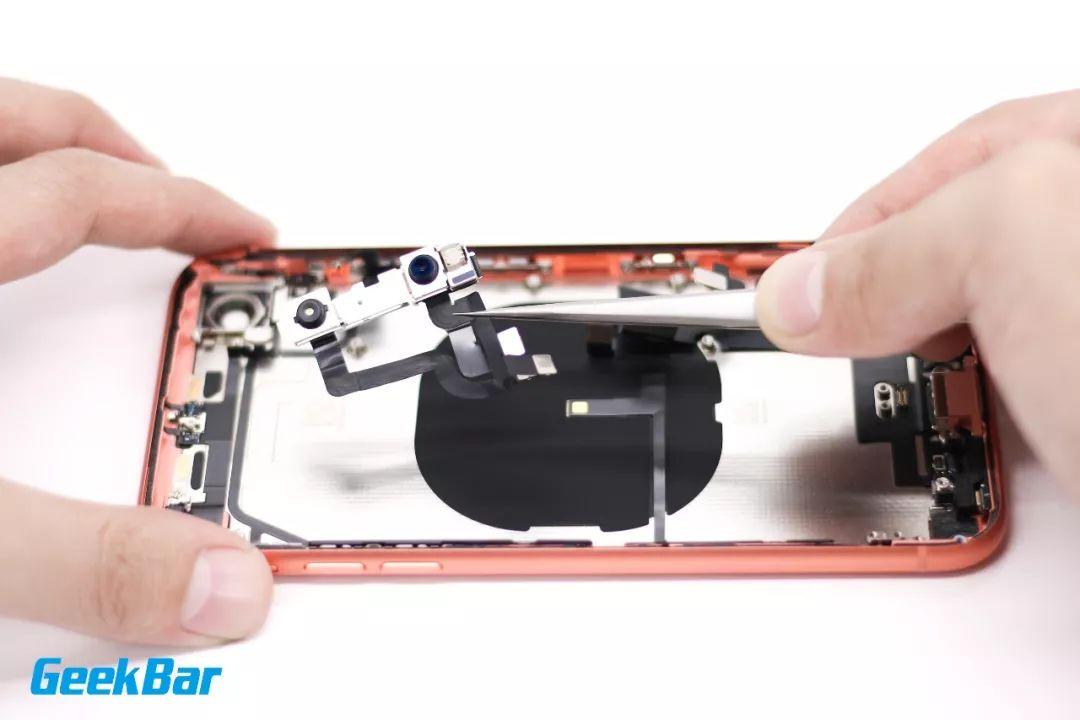 TrueDepthカメラモジュールを外す|iPhoneXR分解