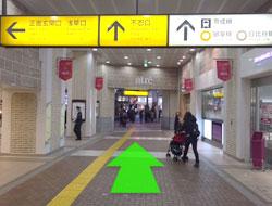 JR上野駅を不忍口をまっすぐ進みます。